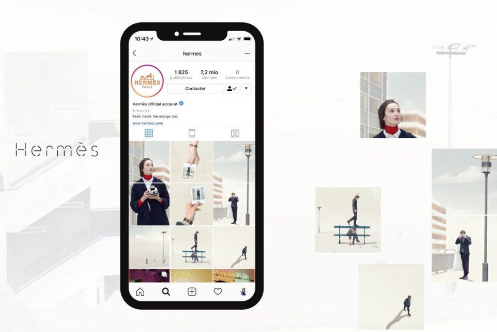 Hermès Social Grid Instagram
